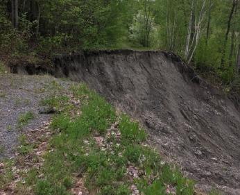 Photo d'un glissement de terrain